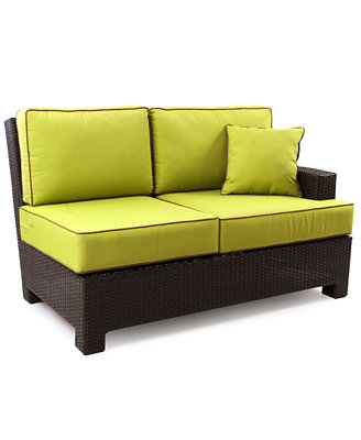 Riviera Wicker Patio Furniture, Outdoor Sectional Loveseat ...