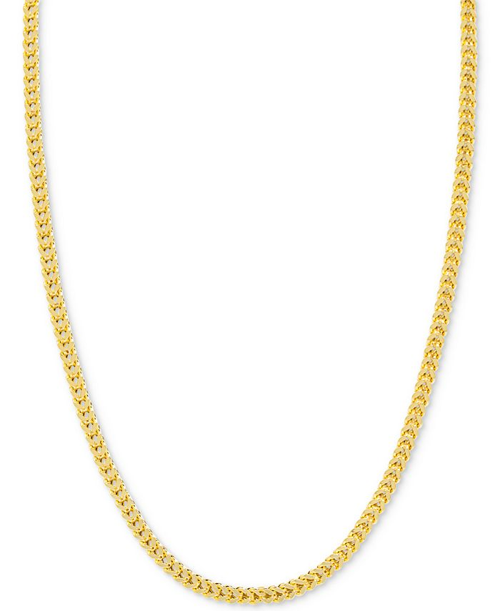 Italian Gold - Franco Chain Necklace in 14k Gold