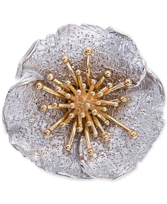 Giani Bernini - Two-Tone Hibiscus Flower Statement Ring