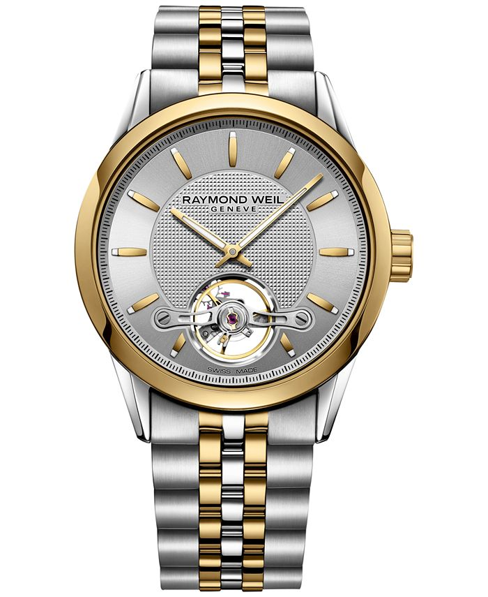 Raymond Weil - Men's Swiss Automatic Freelancer Two-Tone PVD Stainless Steel Bracelet Watch 42mm