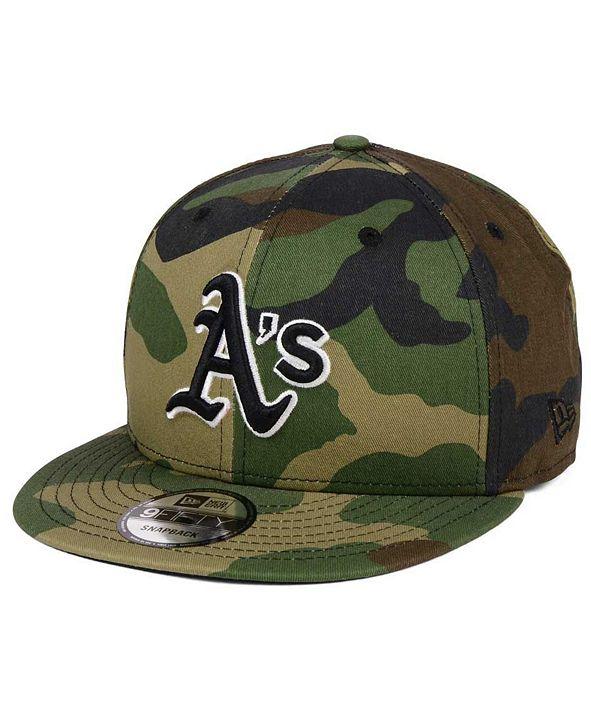 New Era Oakland Athletics Woodland Black/White 9FIFTY Snapback Cap