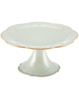 Lenox Dinnerware, French Perle Ice Blue Medium Cake Stand
