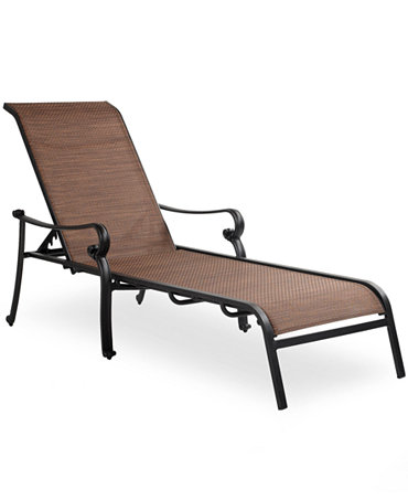 Paradise aluminum outdoor chaise lounge furniture macy 39 s for Aluminum web chaise lounge