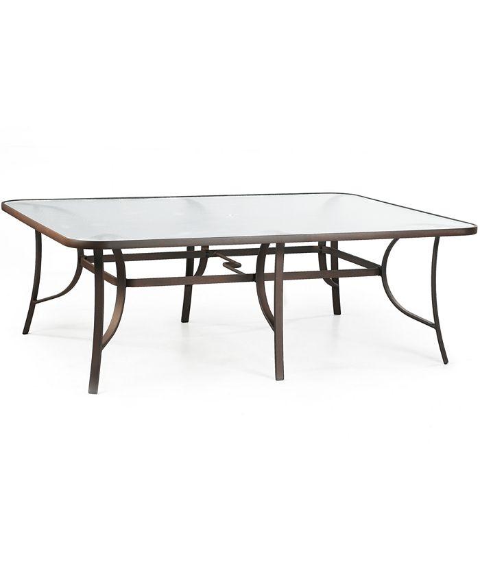 "Furniture - Aluminum 84"" x 60"" Outdoor Dining Table"