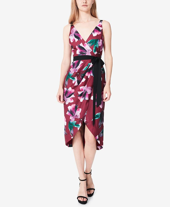 Fame and Partners - The Helenium Printed Wrap Dress