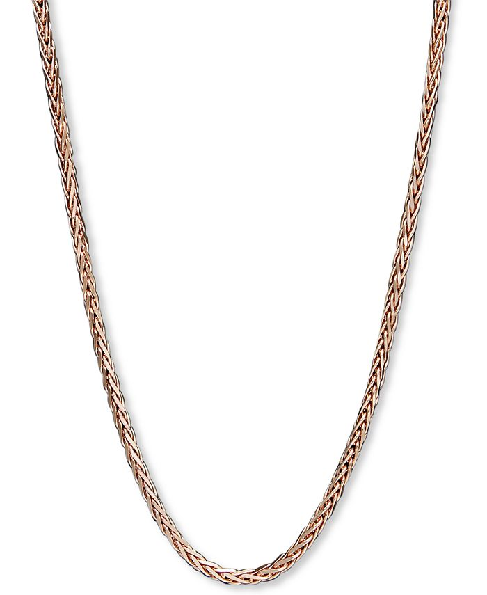 "Macy's - 14k Rose Gold Necklace, 18"" Wheat Chain"