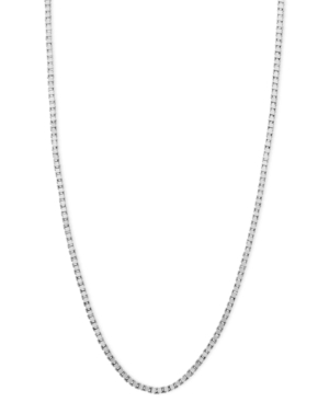 "14k White Gold Necklace, 16"" Box Chain"