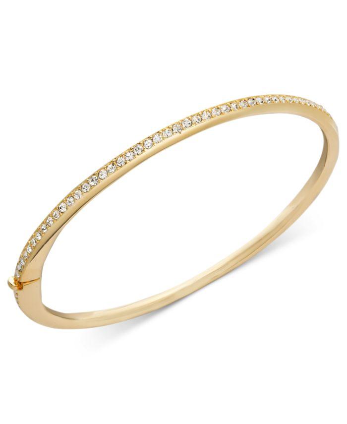 Eliot Danori Gold-Tone Thin Crystal Bangle Bracelet, Created for Macy's & Reviews - Bracelets - Jewelry & Watches - Macy's