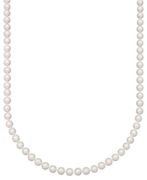 """Belle de Mer Pearl Necklace, 16"""" 14k Gold AA Cultured Akoya Pearl Strand (7-7-1/2 mm)"""
