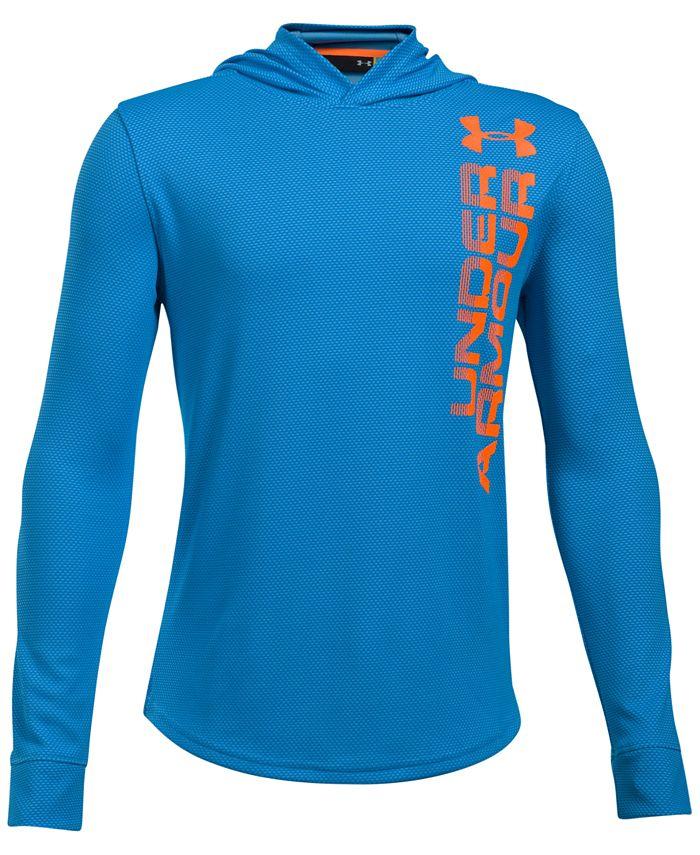 Under Armour - Two-Tone UA Tech™ Hooded Shirt, Big Boys (8-20)