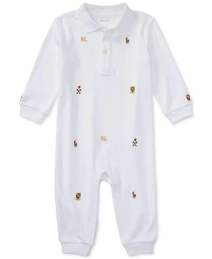 Polo Ralph Lauren - Baby Boys' Schiffli Polo Coverall