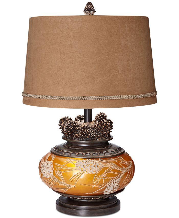 "Pacific Coast - 26"" Amber Pine Cone Lamp"