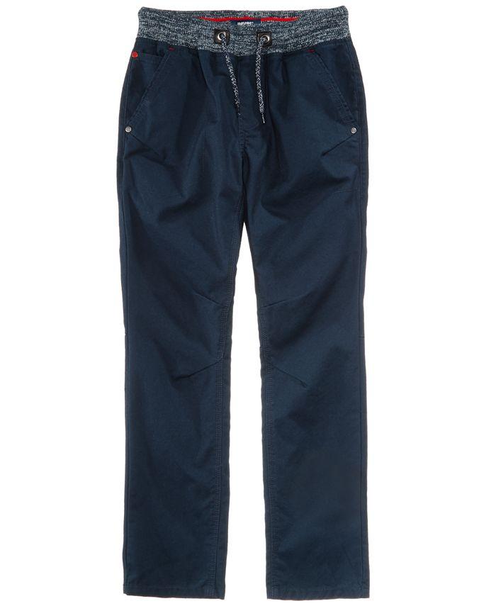 Univibe - Elastic Waist Cotton Pants, Big Boys (8-20)