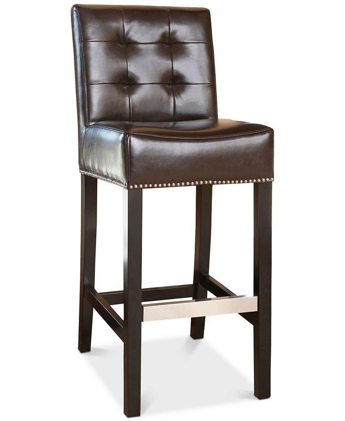 Furniture - Avanti Leather Barstool, Quick Ship