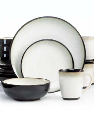 Sango Dinnerware, Nova Black 16 Piece Set