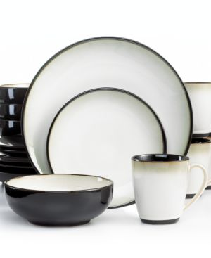 Sango Dinnerware, Nova Black 16 Piece Set