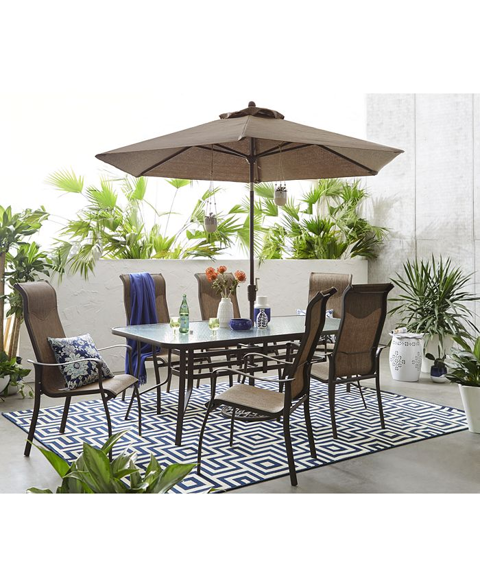 """Furniture - Oasis Outdoor 7 Piece Set: 84"""" x 42"""" Dining Table and 6 Dining Chairs"""