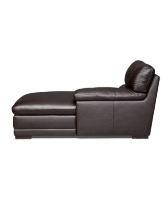 Ashton Leather Chaise Lounge Chair  sc 1 st  Macyu0027s : macys chaise - Sectionals, Sofas & Couches
