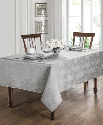 """Moonscape Silver 70"""" x 144"""" Tablecloth"""