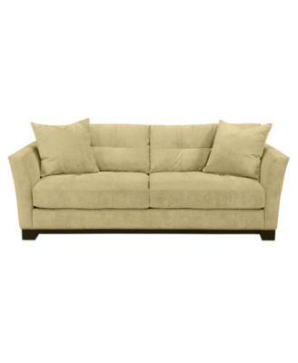 Elliot Fabric Microfiber Sofa: Custom Colors