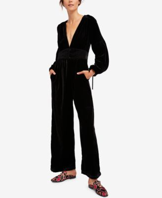 Free People True Lovin Velvet Jumpsuit