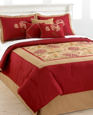 Adelacia 7 Piece Full Embroidered Comforter Set Bedding