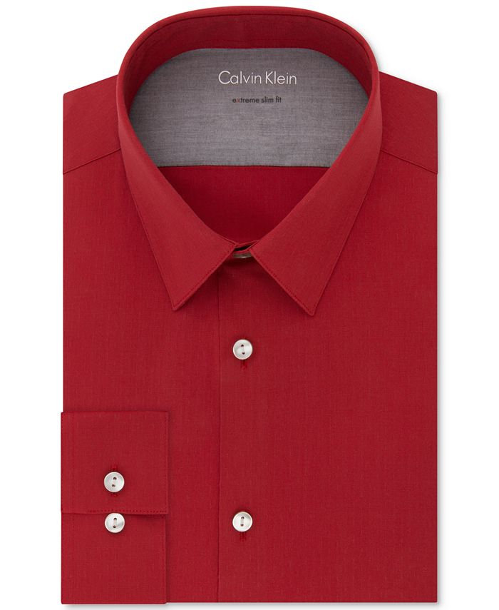 Calvin Klein - Men's Extra-Slim Fit Stretch Performance Non-Iron Dress Shirt