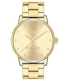 COACH Women's Grand Gold-Tone Stainless Steel Bracelet Watch 36mm