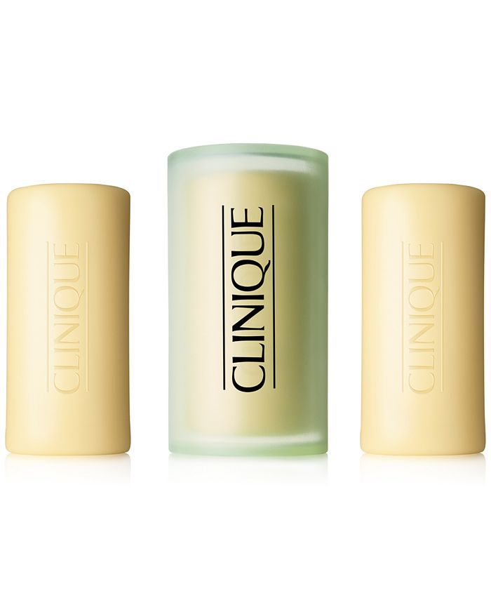 Clinique - Three Little Soaps with Travel Dish - Dry or Normal Skin, 4.5 oz.