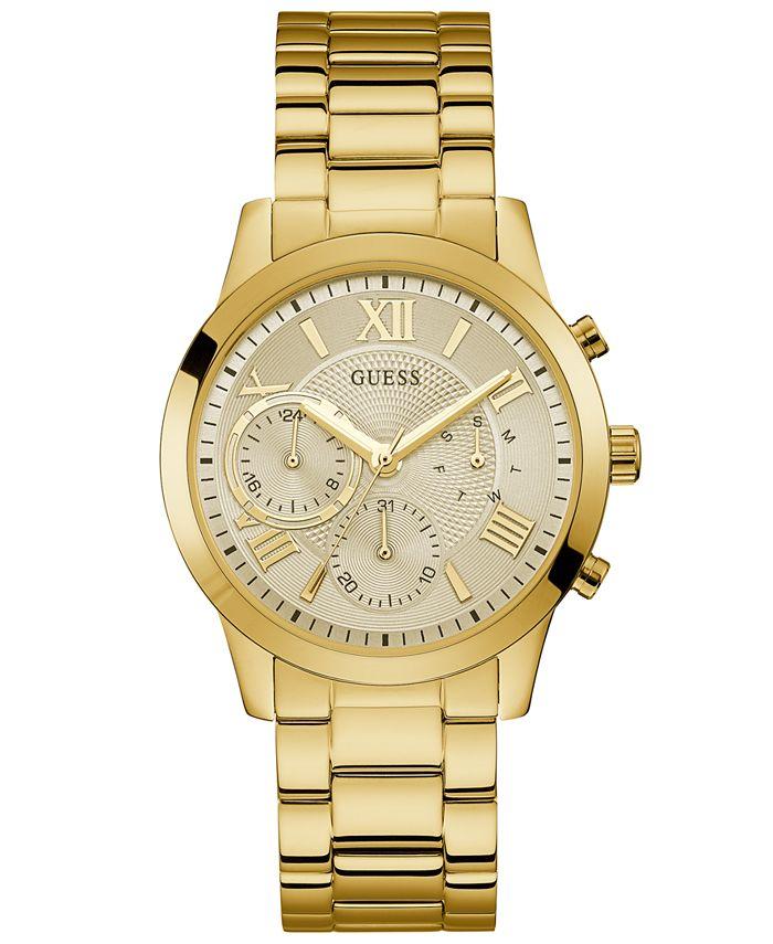 GUESS - Women's Gold-Tone Stainless Steel Bracelet Watch 40mm