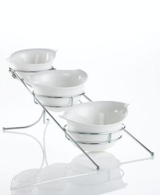 Godinger Serveware, Set of 3 Natura Bowls