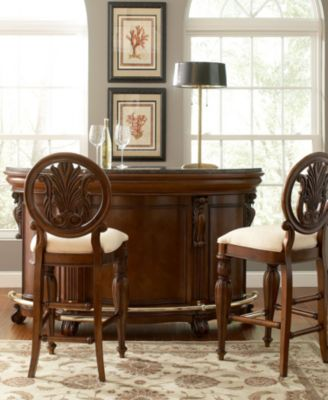 Braxton Home Bar 3 Piece Set And 2 Stools