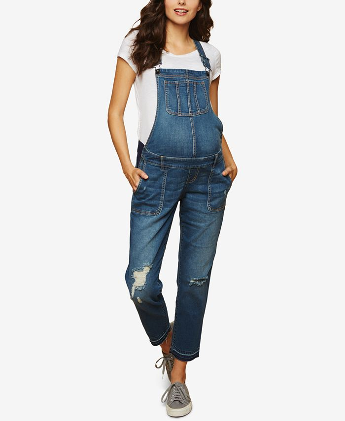 Indigo Blue - Maternity Denim Overalls