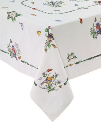 """Botanic Birds 60"""" x 84"""" Tablecloth"""