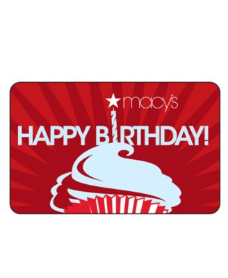 New Birthday Gift Card with Letter - Gift Cards - Macy's