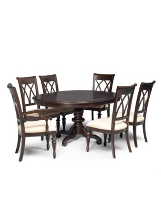 Bradford Round Expandable Dining Table Furniture Macy S