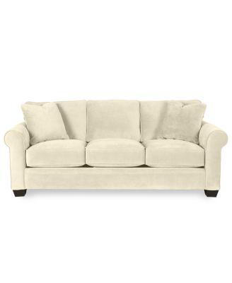 "Raja Fabric Sofa Bed Queen Sleeper 96""W x 38""D x 37""H Furniture Macy s"
