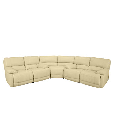 Nina leather 3 piece power reclining sectional sofa 2 for 3 piece sectional sofa with wedge