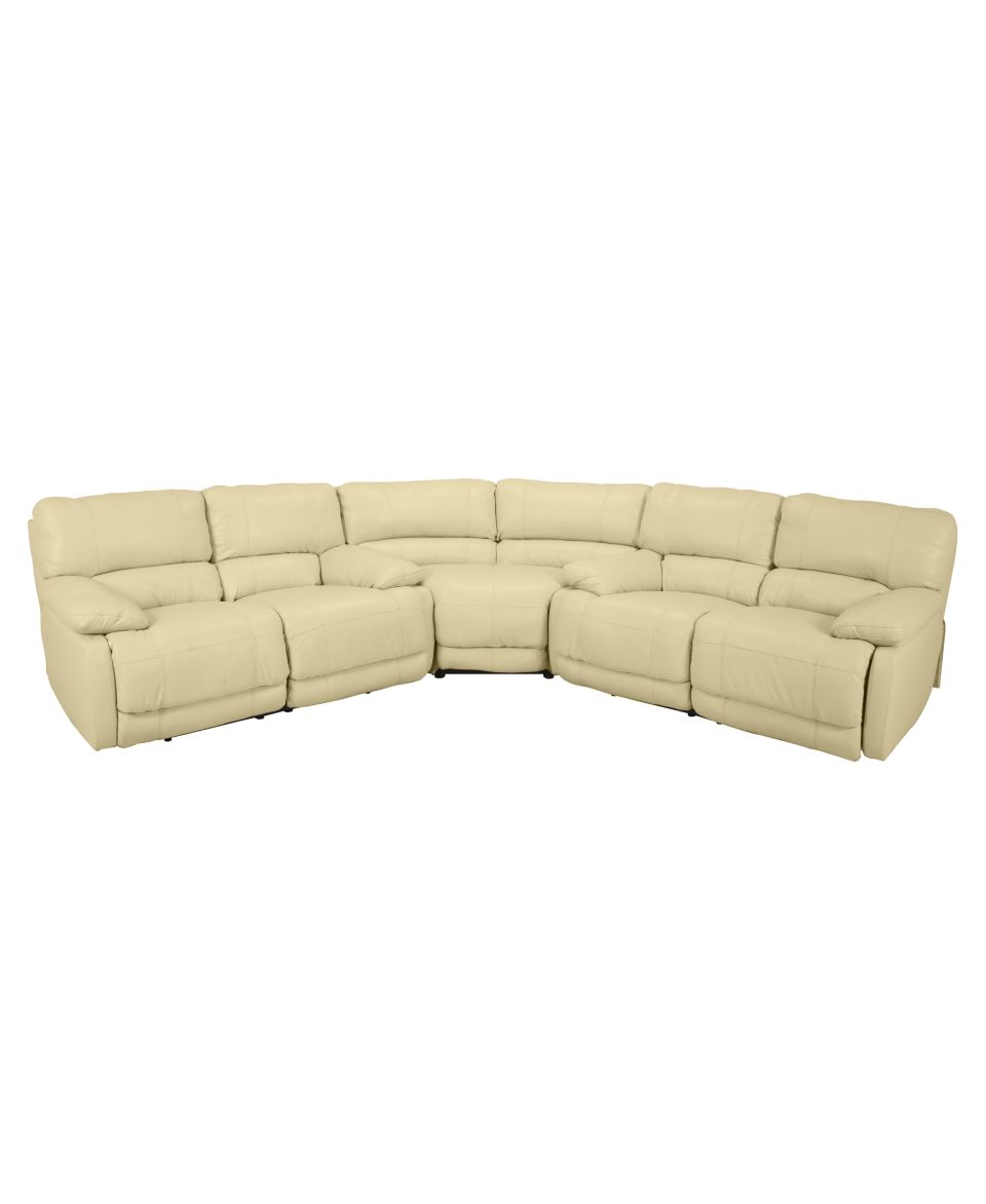 Nina Leather Reclining Sectional Sofa 3 Piece Power Recliner 2