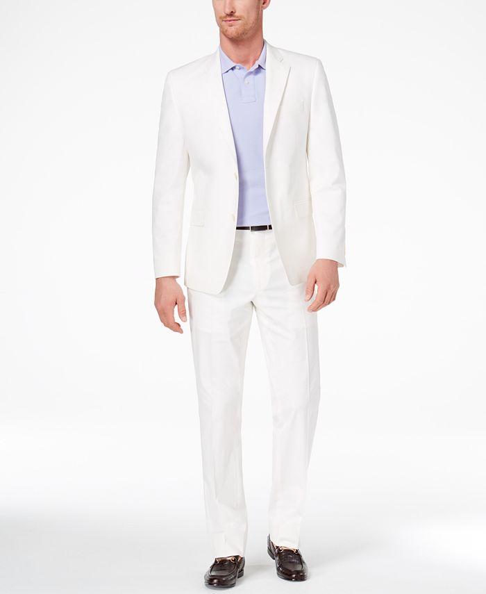 Lauren Ralph Lauren - Men's Slim-Fit Ultraflex White Solid Suit