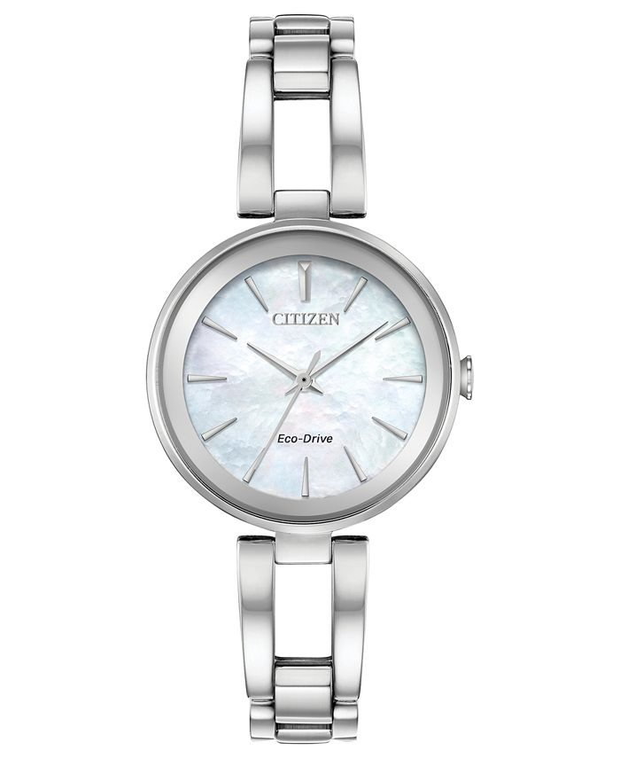 Citizen - Women's Eco-Drive Axiom Stainless Steel Bracelet Watch 28mm