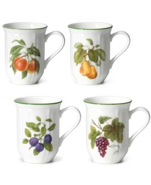 Mikasa Dinnerware, Set of 4 Antique Orchard Mugs