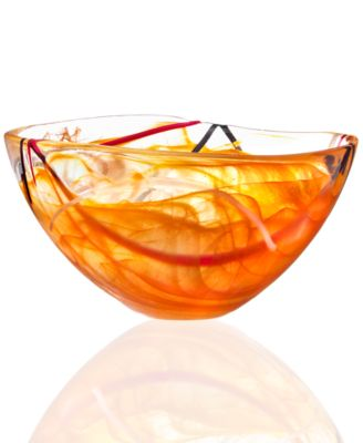 Kosta Boda Crystal Bowl, Contrast Medium