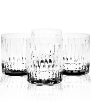"Reed & Barton ""Soho"" Double Old-Fashioned Glasses, Set of 4"