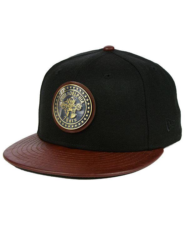 New Era Philadelphia 76ers Butter Badge 9FIFTY Snapback Cap