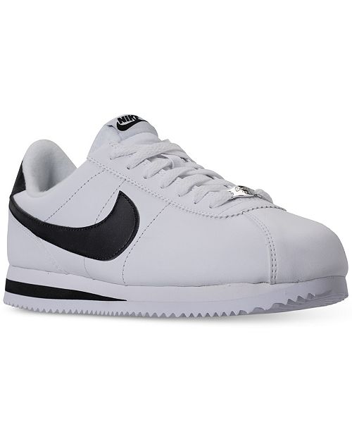 pesado considerado consultor  Nike Men's Cortez Basic Leather Casual Sneakers from Finish Line & Reviews  - Finish Line Athletic Shoes - Men - Macy's