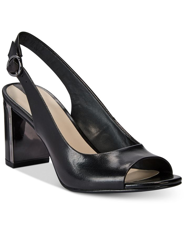 Alfani - Women's Floraa Slingback Block-Heel Sandals