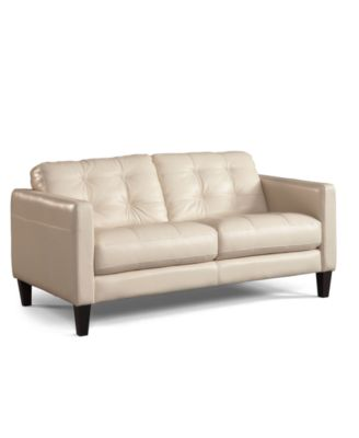 Almafi Leather Loveseat Furniture Macy S