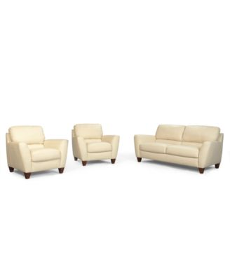 Almafi 4 Piece Leather Sofa Set Sofa Love Seat Recliner