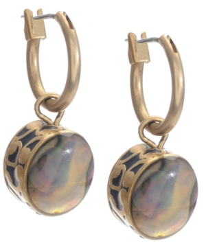 Kenneth Cole New York Earrings, Gold-Tone Abalone Drop